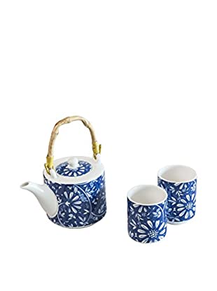 Molecuisine Tee Service 3 tlg. Set Orient weiß/blau