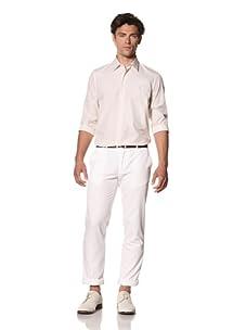 Pringle of Scotland Men's Fine Striped Shirt (Pale Khaki)