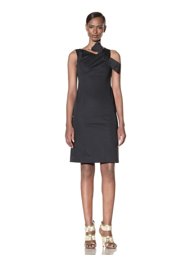 Moschino Cheap and Chic Women's Sheath Dress with Shoulder Detail (Black)