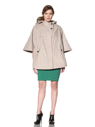 Hilary Radley Women's Hooded Cape (Vintage Taupe)