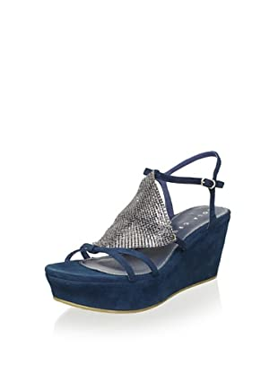 Lola Cruz Women's Wedge Sandal (Azul)