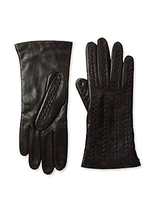 Portolano Women's Zig Zag Stitched Gloves (Teak/Aubergine)