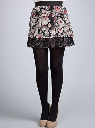 Sinequanone Minifalda Encaje (negro / gris)