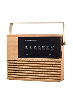 Areaware Radio Dock, Natural Wood