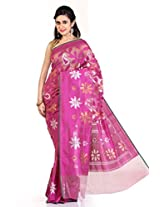 Rani Saahiba Purple Banaras Net Saree