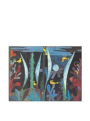 ArtopWeb Panel de Madera Klee Paesaggio Con Uccelli Gialli 60x80 cm