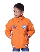LITTLE BUGS Boy's Full Sleeve Cotton Jacket -Orange