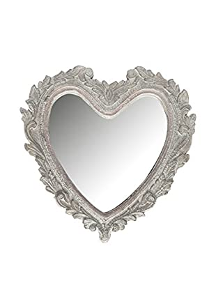 Novità Home Wandspiegel Heart weiß