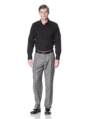 Hart Schaffner Marx Men's Plaid Trousers (Grey)