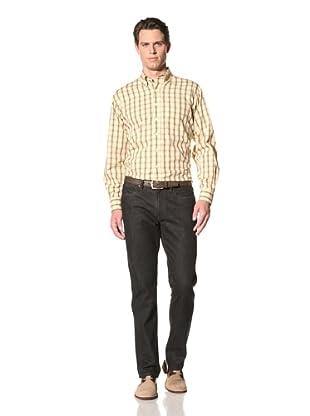 Bill's Khakis Men's Atlantic Plaid Button-Up Shirt (Sunstone)