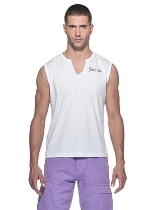 Datch Camiseta SM Cuello V Logo (Blanco)