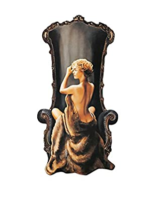 ARTOPWEB Panel Decorativo Di Scenza Seated Beauty