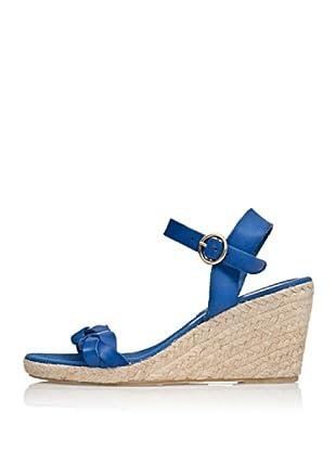 Cortefiel Keil-Sandalette Yuta (Blau)