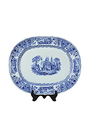 Swedish Blue & White Platter, White/Blue