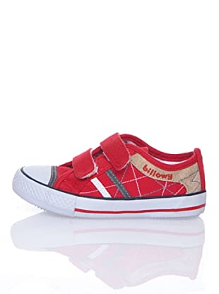 Billowy Zapatillas Lona Velcro (Rojo)
