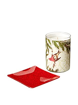 Mudlark Imperial Carol 10.5-Oz. Candle & Glass Dish