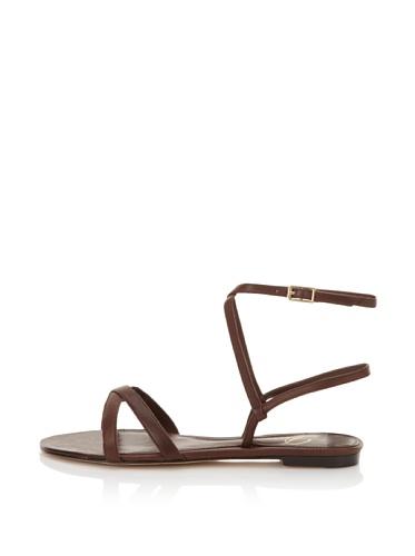 Delman Women's Syera Strappy Sandal (Dark Brown)
