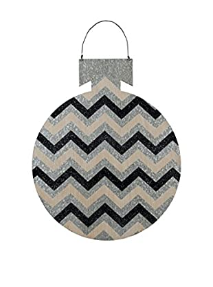 Large Tin Chevron Ball