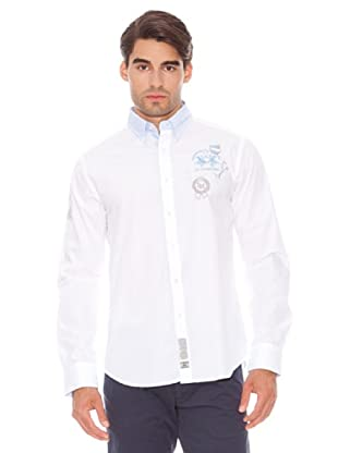 La Martina Camisa Pima Manga Larga Puños Abotonados (Blanco)
