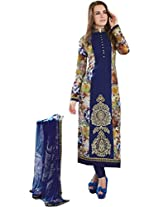 Pure Lawn Embroidered Unstitched Straight Suit