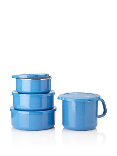 Reston Lloyd Calypso Basics 6-piece Bowl Set with 4-in-1 Mini Stock Pot (Azure)