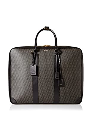 Saint-Laurent Toile Monogram 48H Suitcase, Black