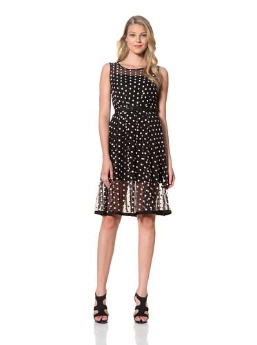 Eva Franco Women's Samantha Sleeveless Polka Dot Printed Dress (Coco Dot)