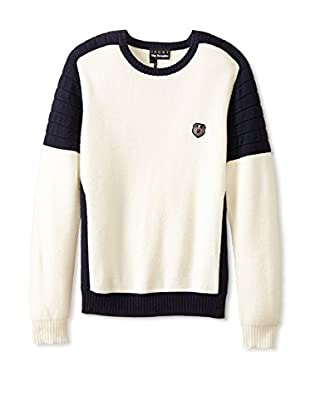 The Kooples Sport Men's Two Colour Round Neck Sweater