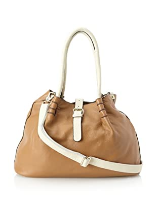 belle & bloom Women's Ariel Contrast Tote, Camel