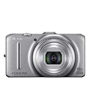 Nikon Coolpix S9300 16MP Point-and-Shoot Digital Camera (Silver) with 4GB Card, Camera Pouch