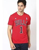 Miami Heat Red Crew Neck T Shirt