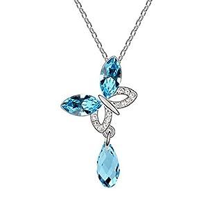 Girlz! crystal Pendant For Women (Blue)