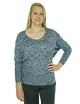 Lucky Brand Women's Dolman Sleeve Sweater Sparrow Space Dye Sweater