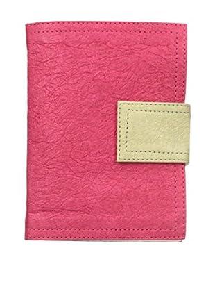 Marina Vaptzarov Small Soft Vegetal Leather Cover Travel Diary, Pink/Grey