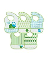 green sprouts' by i play.' 5-Pack Waterproof Eva Bib in Owl