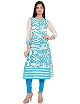 Amaya Women's Cotton Kurta (A1022-S_XXL, Multicolored, XXL)