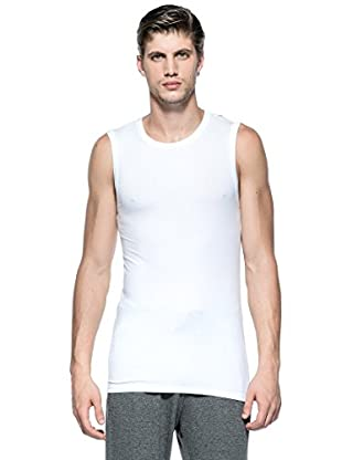 Versace Camiseta Tirantes Smanicata (Blanco Óptico)