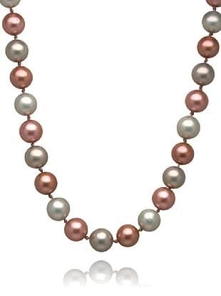 Perldor Kette Muschelkernperlen braun/rosa/creme 60650043