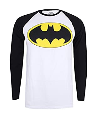DC Comics T-Shirt Manica Corta Baseball Batman