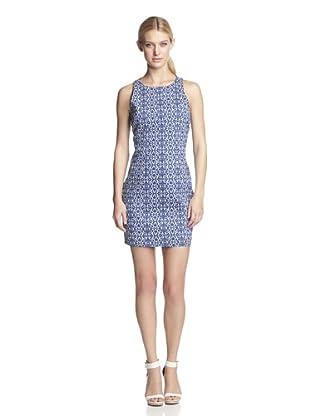 W118 by Walter Baker Women's Regina Cotton Twill Print Dress (Blue)