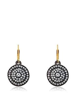 Riccova Cosmopolitan Crystal Circle Medallion Drop Earrings