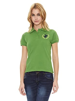 Polo Club Polo Manga Corta Custom Fit Logo (Verde)