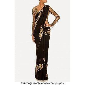 Bollywood Replica Model Georgette Saree In Black Colour NC756