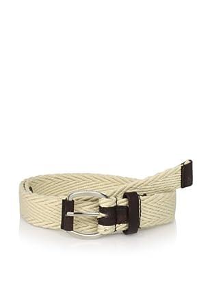 Ben Sherman Men's Herringbone Belt (Ecru)