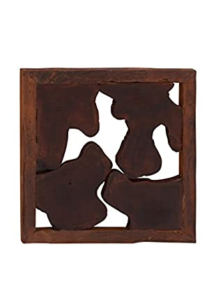 Cow Printed Wall Hanging, Brown Multi