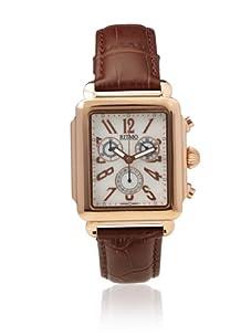 Ritmo Mundo Men's Athena Rectangular Brown/White Stainless Steel Watch