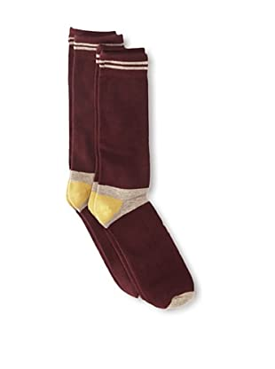 Florsheim by Duckie Brown Men's Colorblock Socks, 2-pack (Wine)