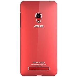 Heartly Imak Crystal Transparent Flip Thin Hard Bumper Back Case Cover For Asus Zenfone 5