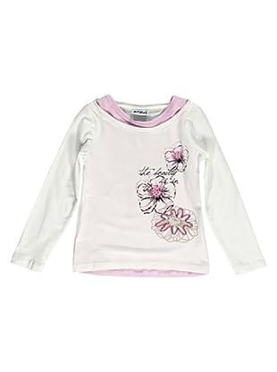 Camiseta Manga Larga Fiori (Crema)