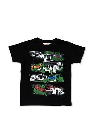 Licencias Camiseta Tortugas Ninja (Negro)